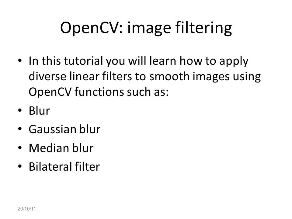 OpenCV: image filtering