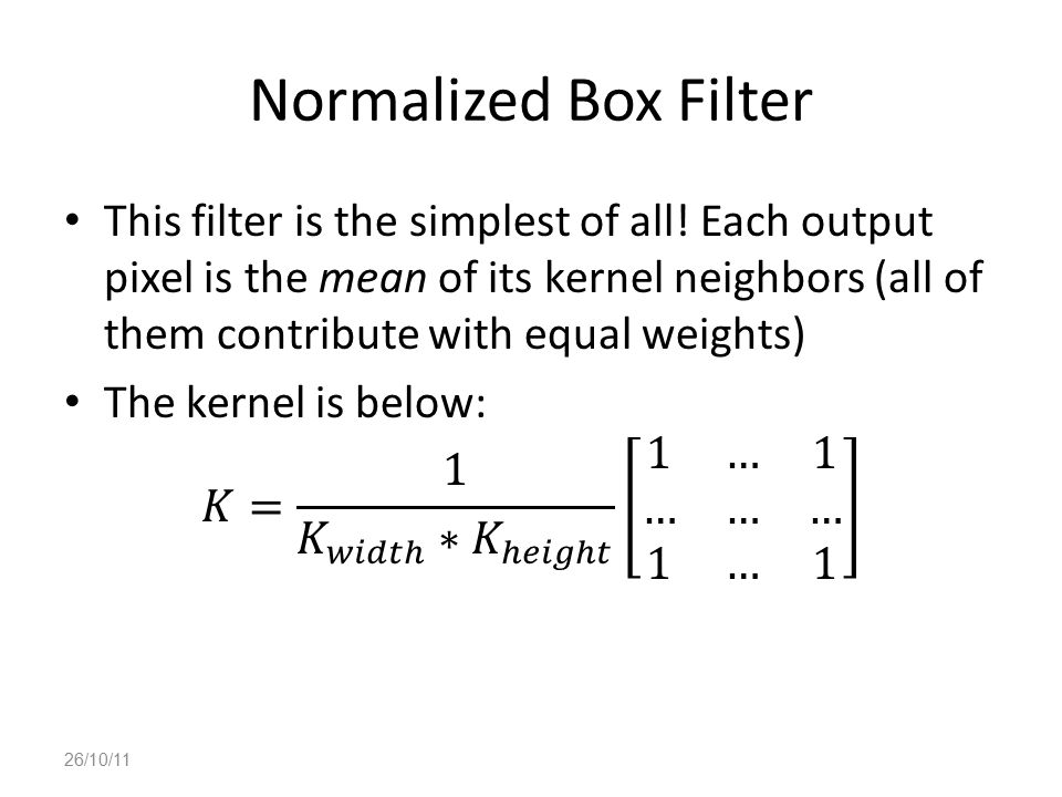 Normalized Box Filter