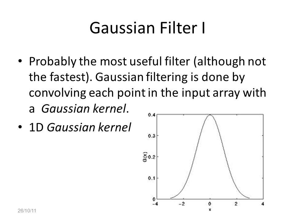Gaussian Filter I
