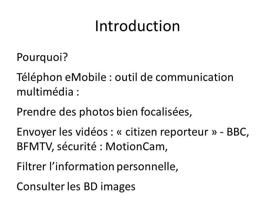 Introduction Pourquoi