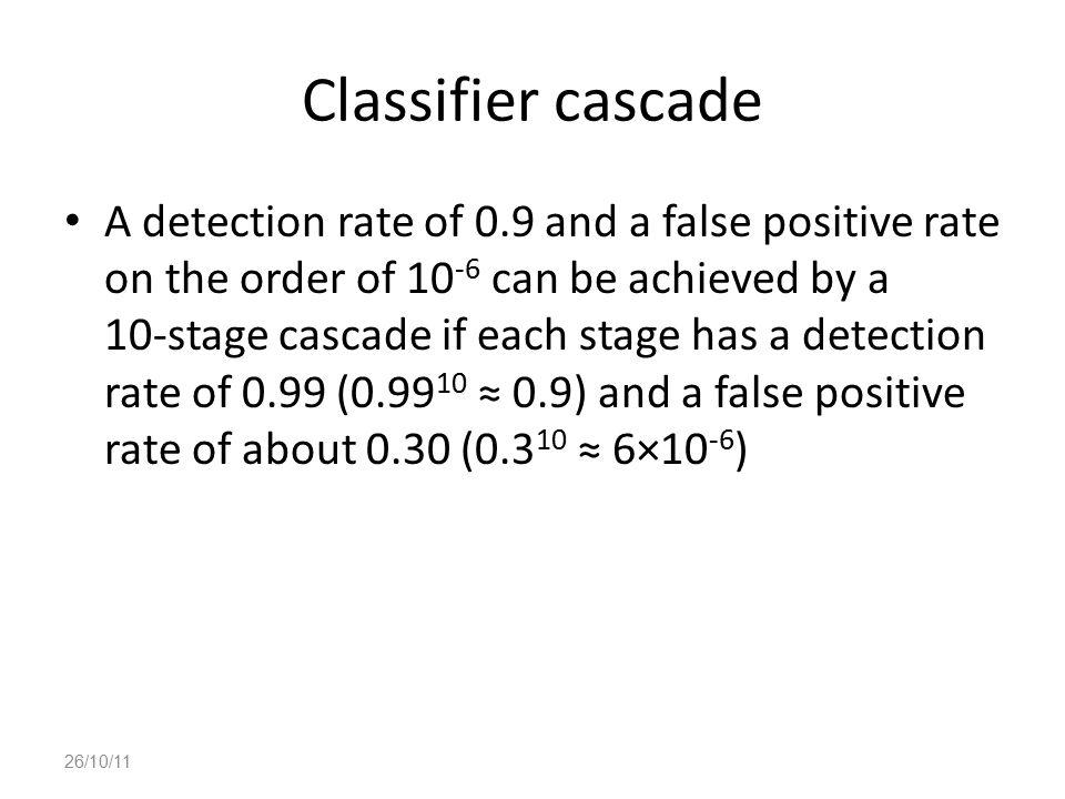 Classifier cascade
