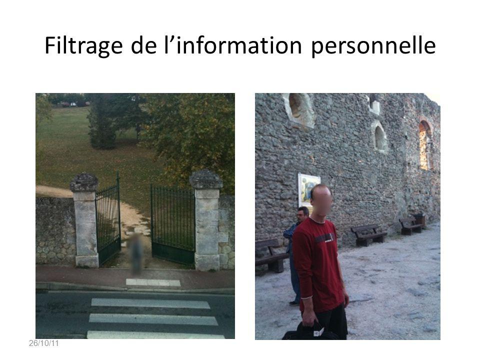 Filtrage de l'information personnelle