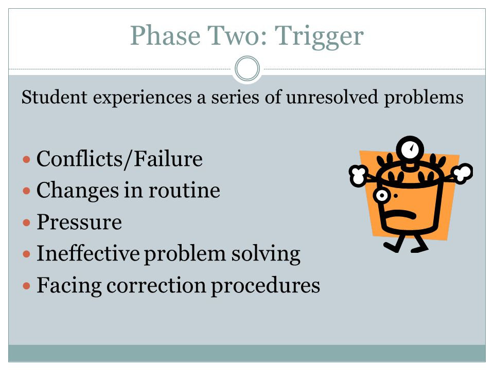 Phase Two: Trigger Conflicts/Failure Changes in routine Pressure
