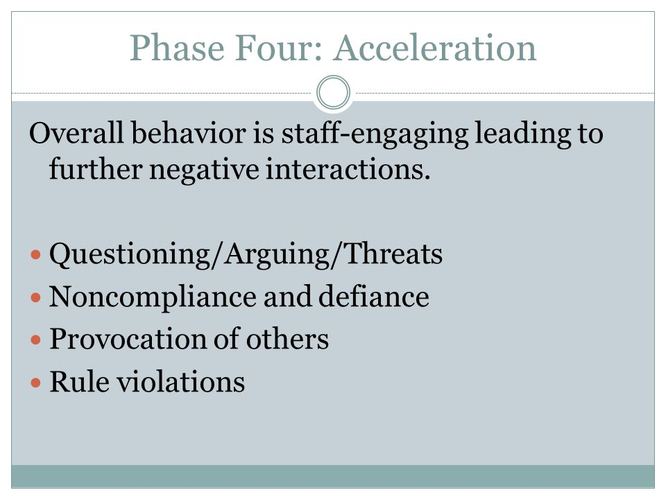 Phase Four: Acceleration