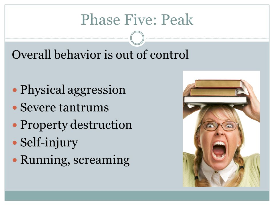 Phase Five: Peak Overall behavior is out of control