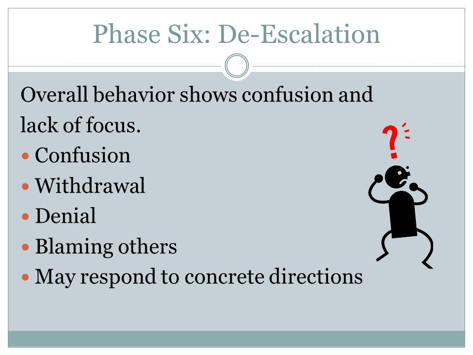 Phase Six: De-Escalation