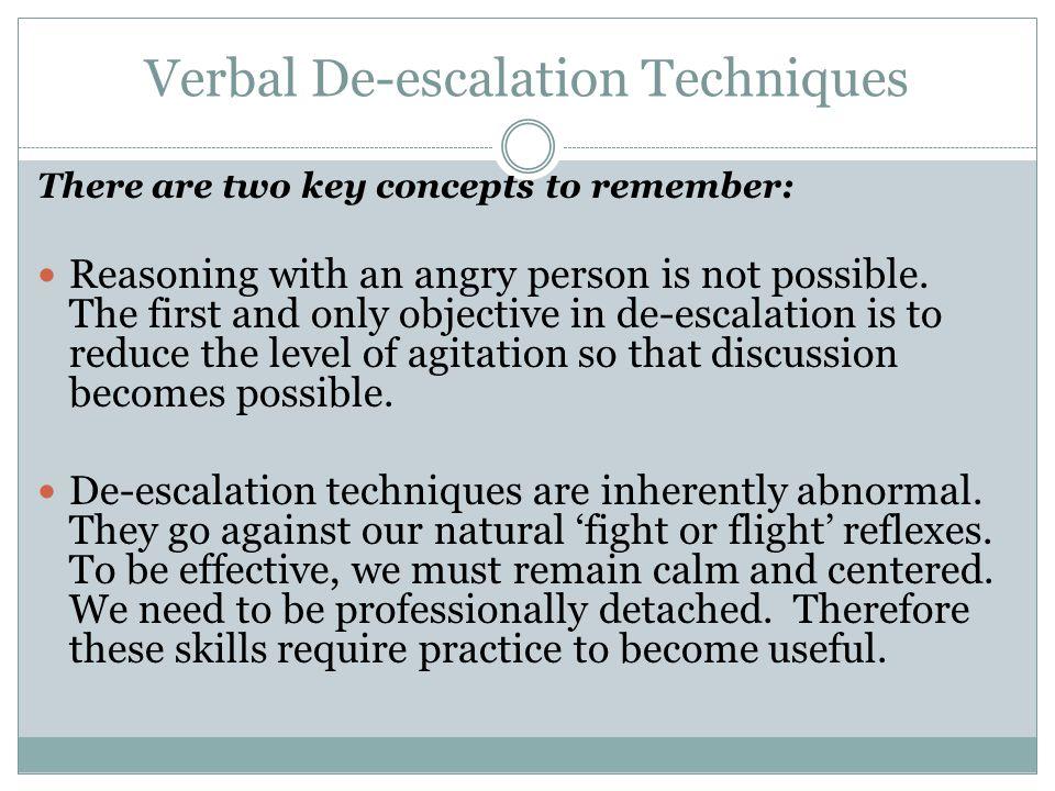 Verbal De-escalation Techniques