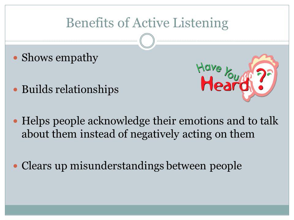 Benefits of Active Listening