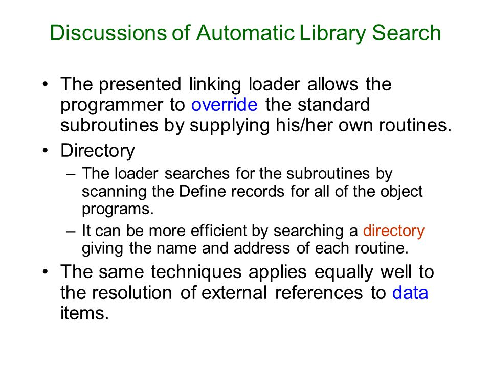Discussions of Automatic Library Search