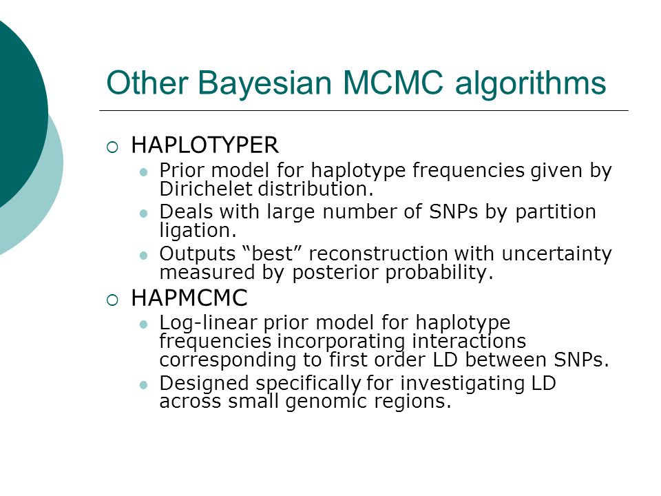 Other Bayesian MCMC algorithms