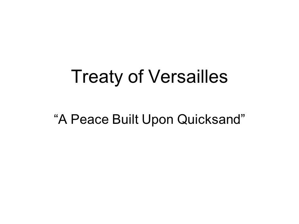 A Peace Built Upon Quicksand