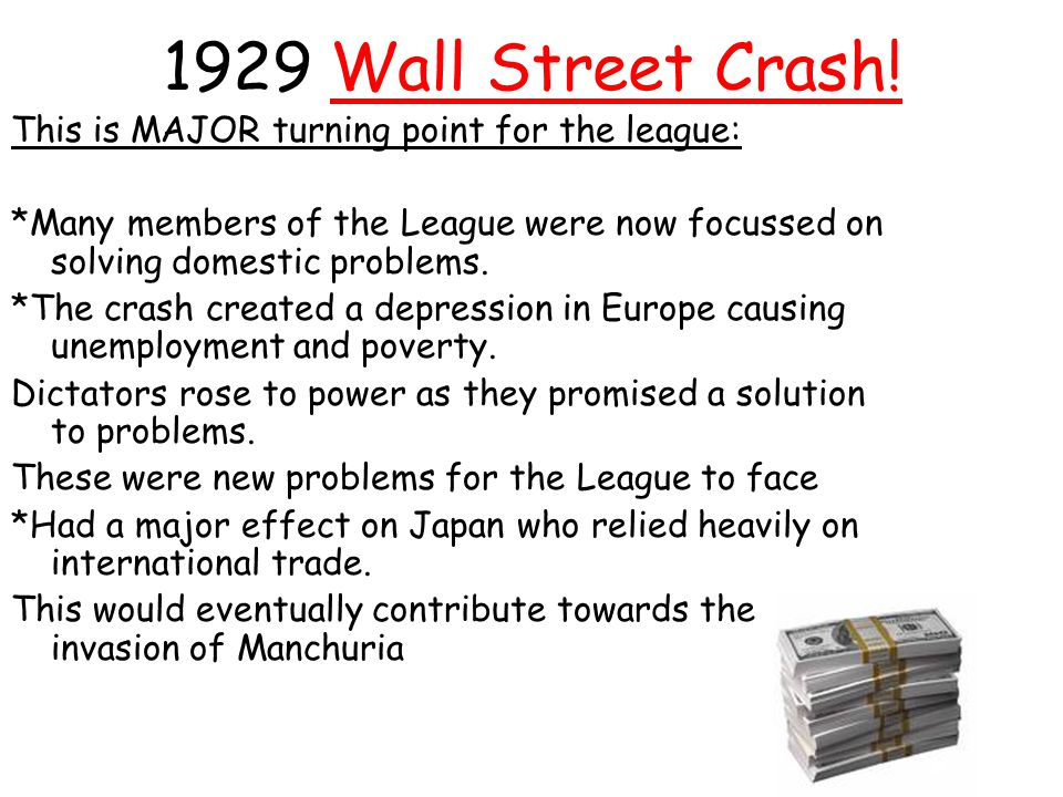 1929 Wall Street Crash! This is MAJOR turning point for the league: