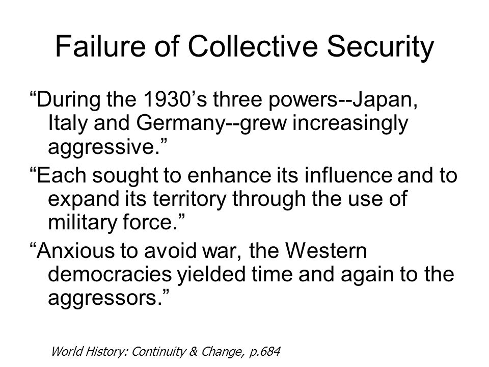 Failure of Collective Security