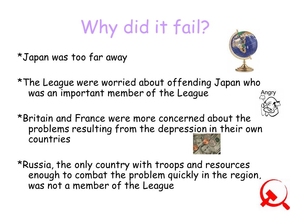 Why did it fail *Japan was too far away