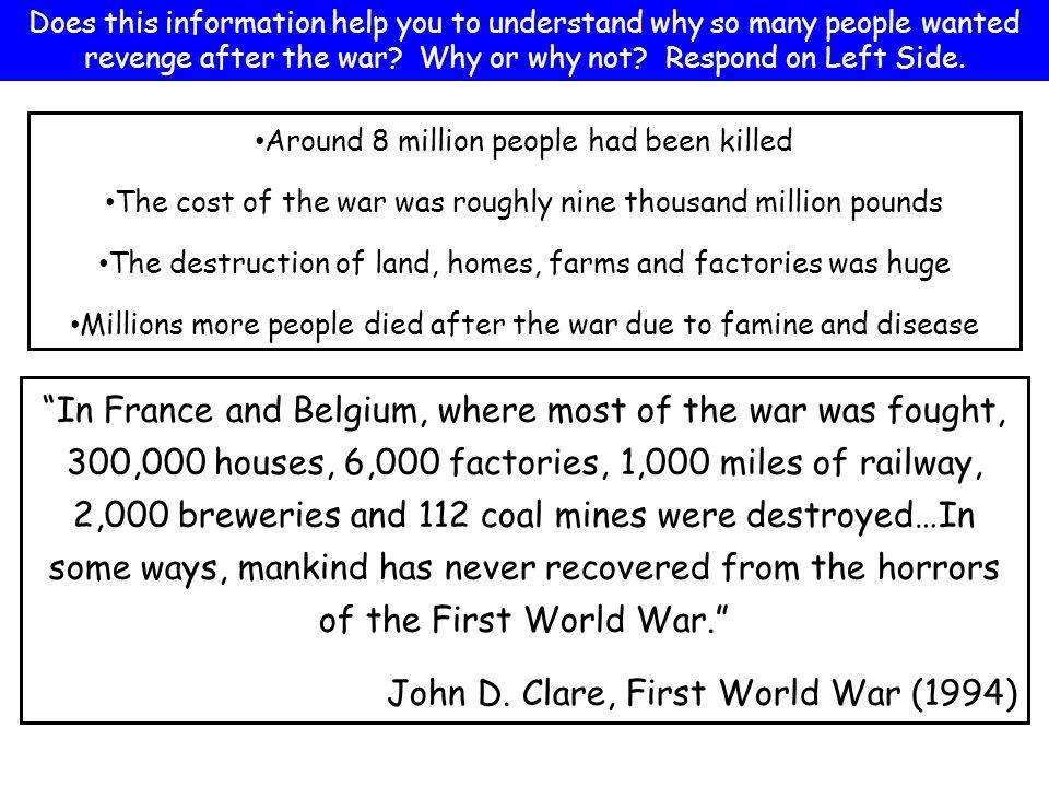 John D. Clare, First World War (1994)