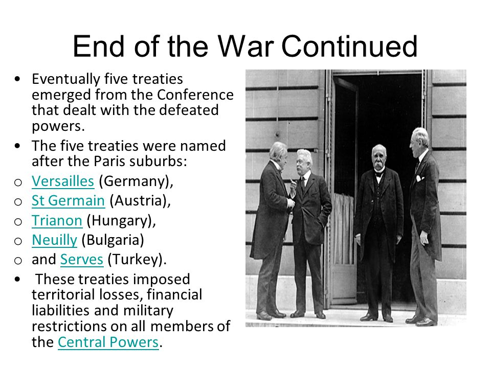 End of the War Continued