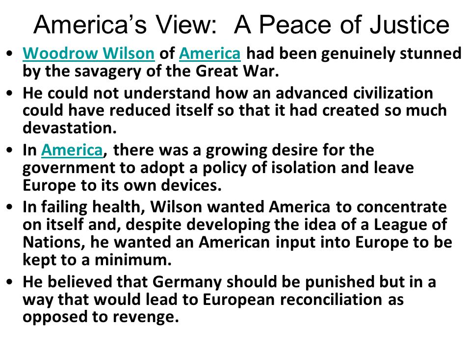 America's View: A Peace of Justice