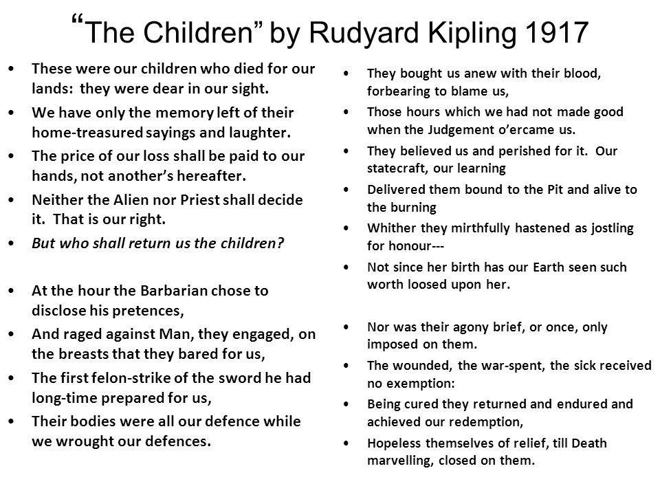The Children by Rudyard Kipling 1917