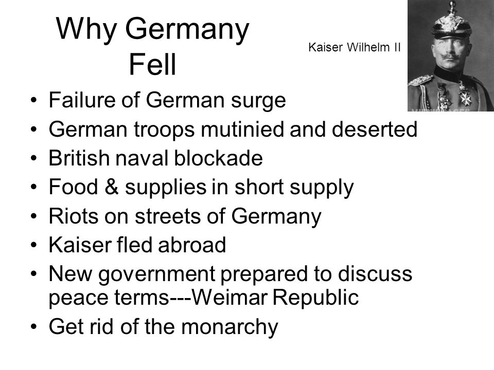Why Germany Fell Failure of German surge