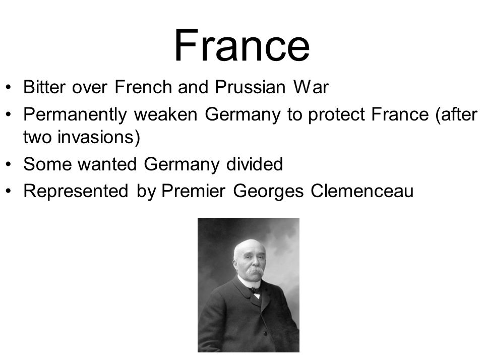 France Bitter over French and Prussian War