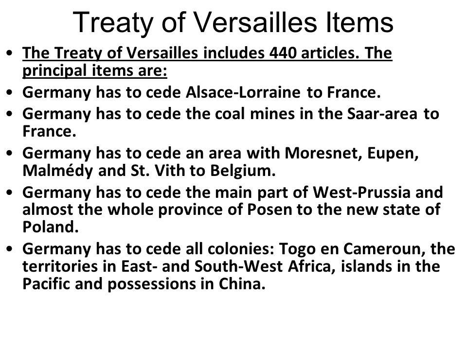 Treaty of Versailles Items