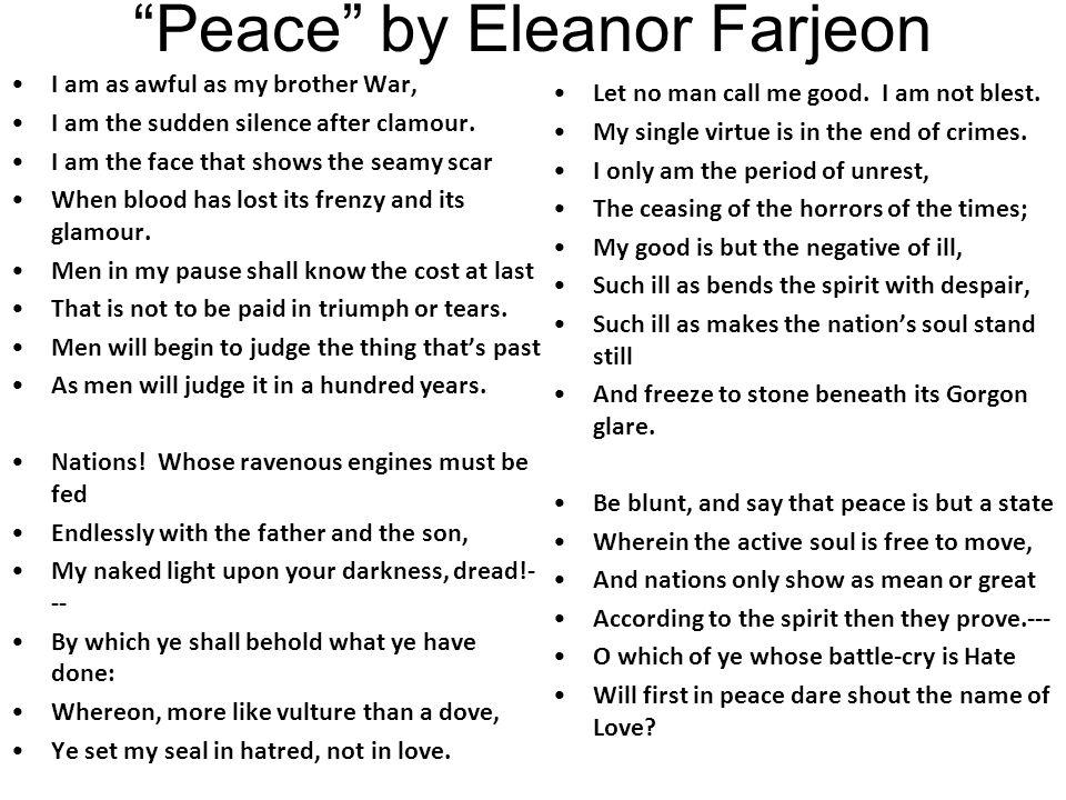 Peace by Eleanor Farjeon