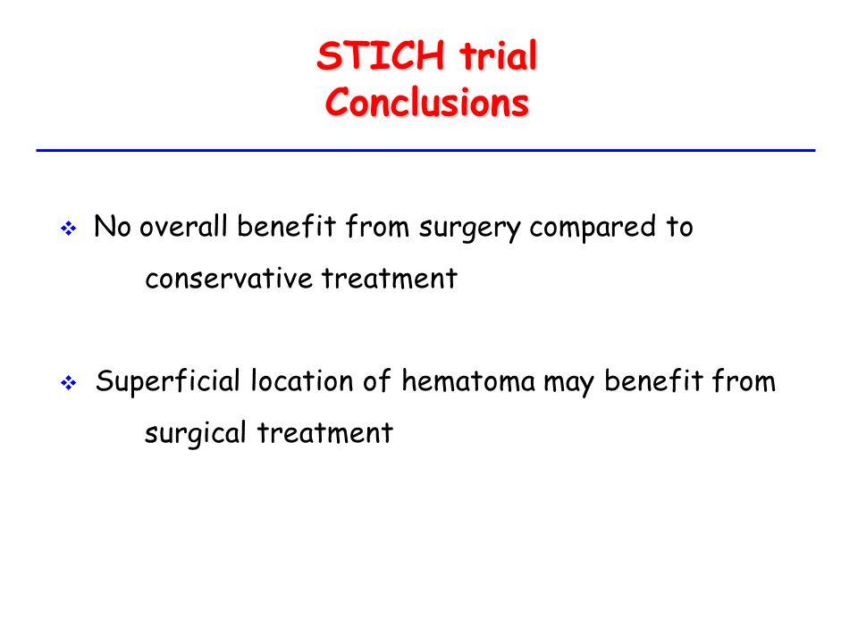 STICH trial Conclusions