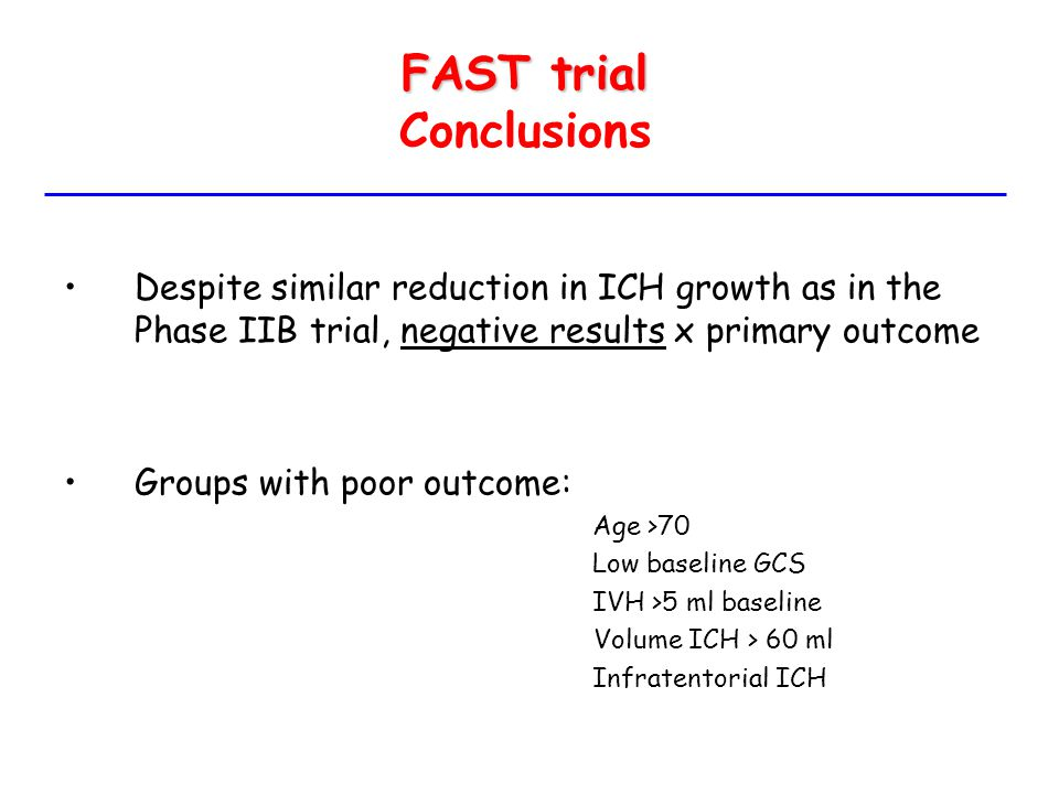 FAST trial Conclusions