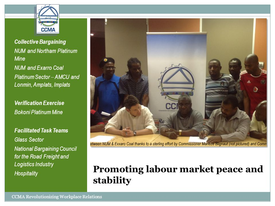 Promoting labour market peace and stability