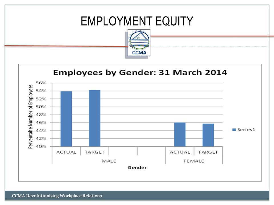 EMPLOYMENT EQUITY CCMA Revolutionizing Workplace Relations