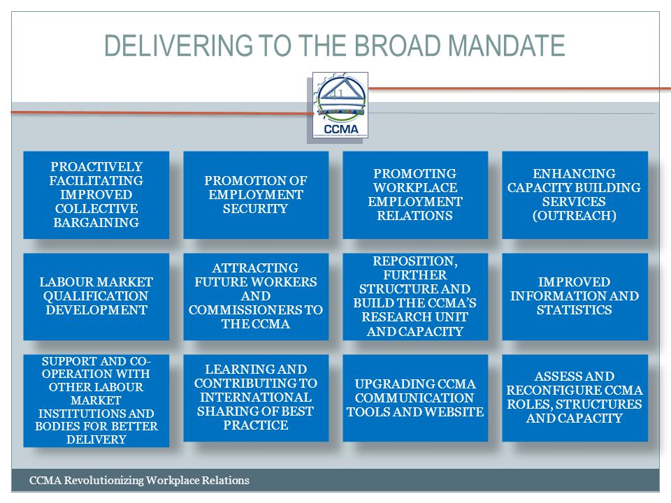 DELIVERING TO THE BROAD MANDATE