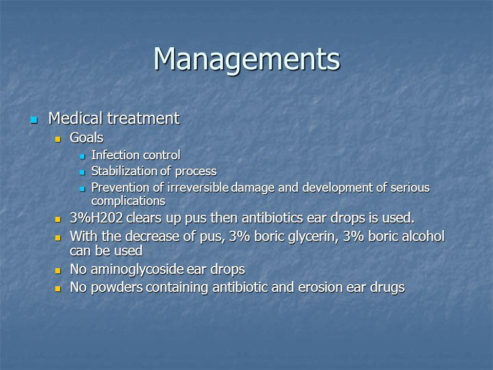 Managements Medical treatment Goals