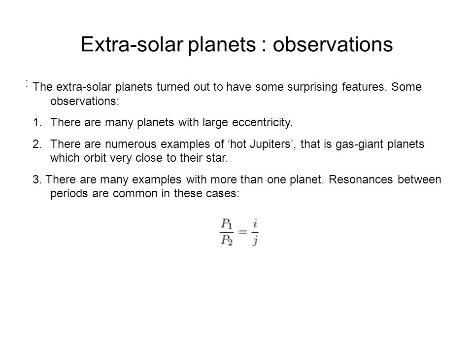 Extra-solar planets : observations