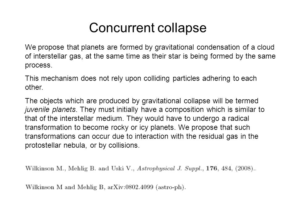 Concurrent collapse