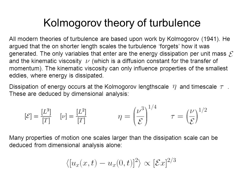 Kolmogorov theory of turbulence