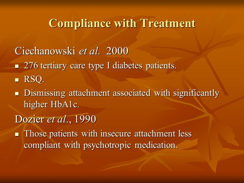 Compliance with Treatment