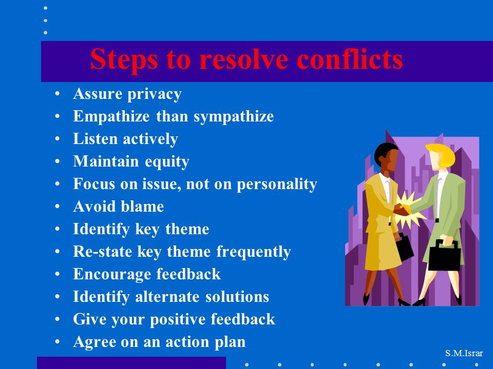 Steps to resolve conflicts