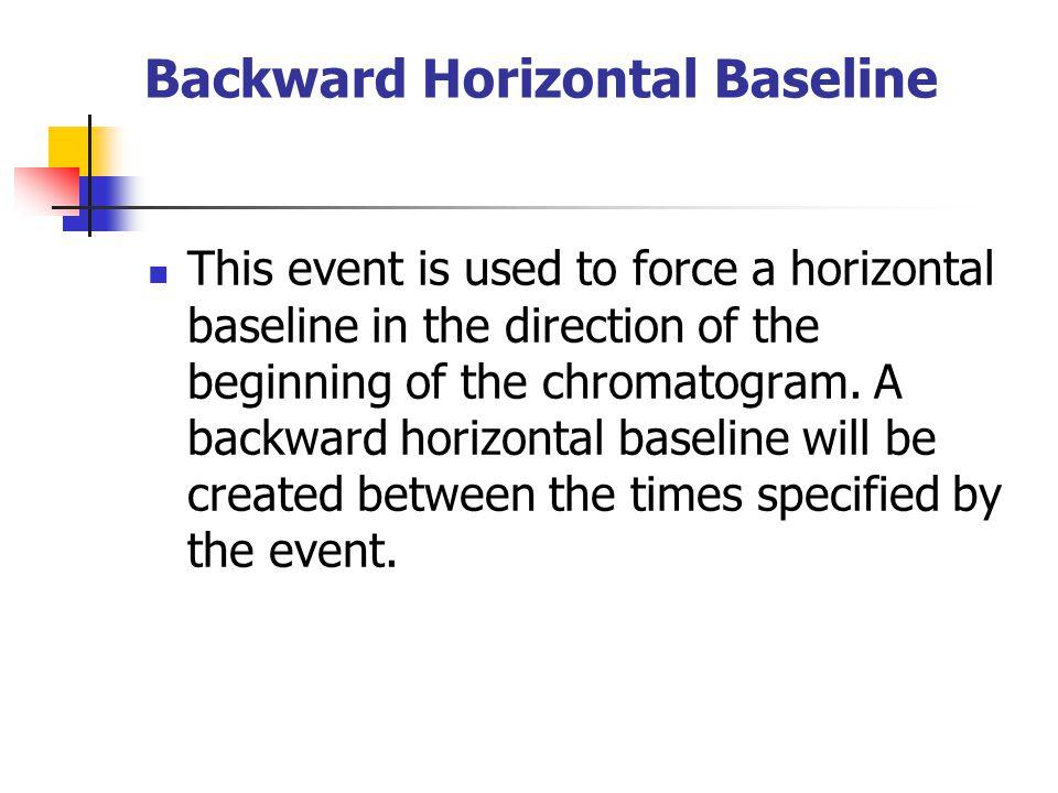 Backward Horizontal Baseline