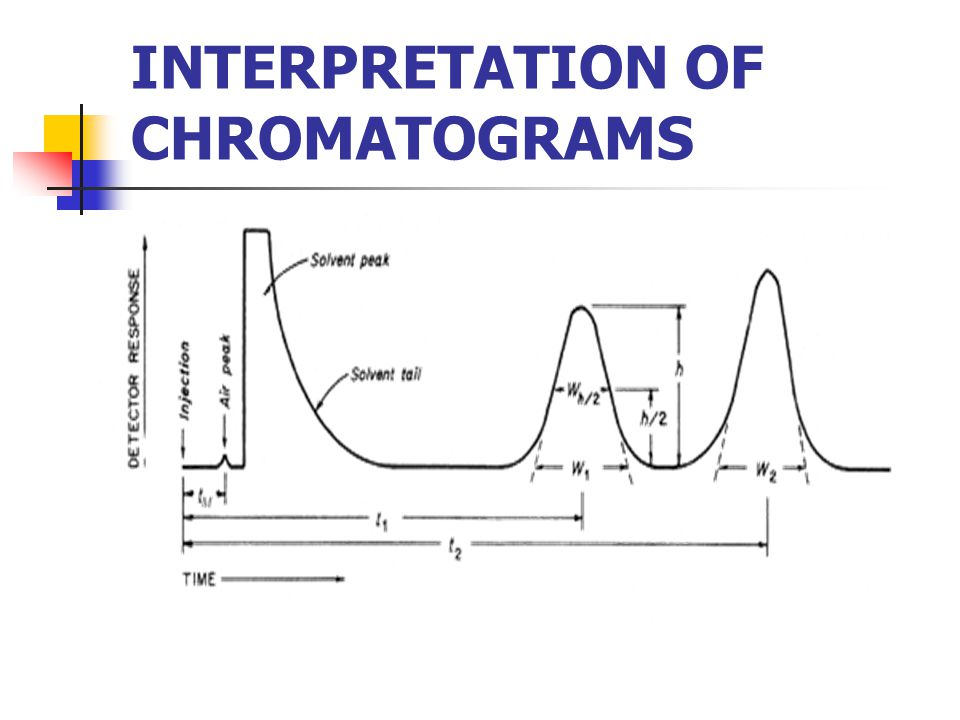 INTERPRETATION OF CHROMATOGRAMS