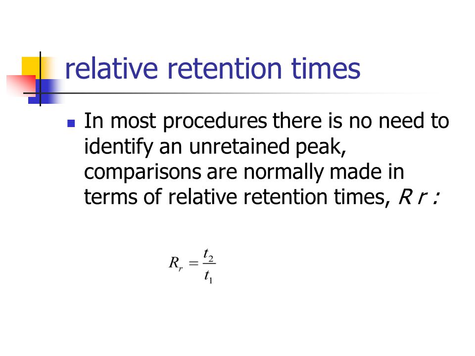 relative retention times