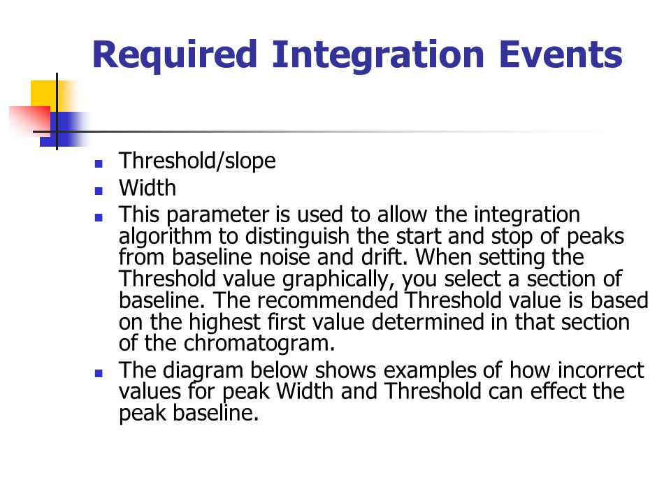 Required Integration Events