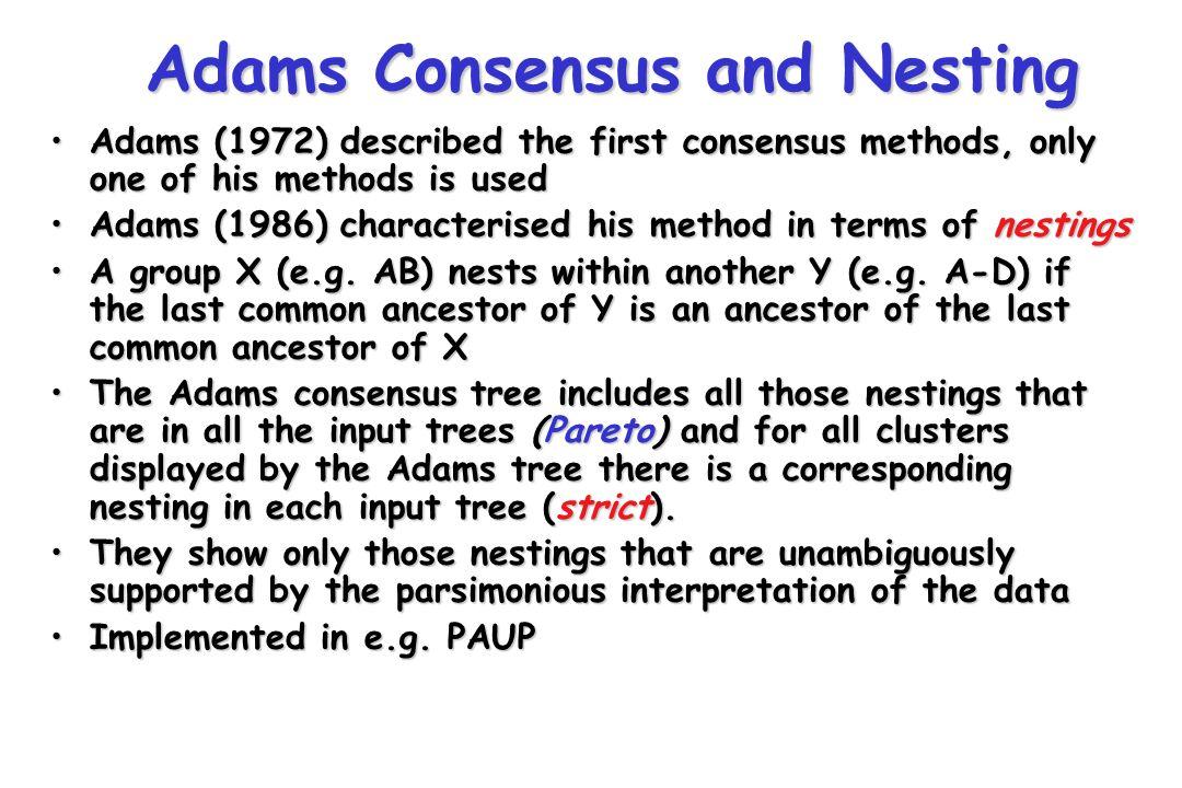 Adams Consensus and Nesting