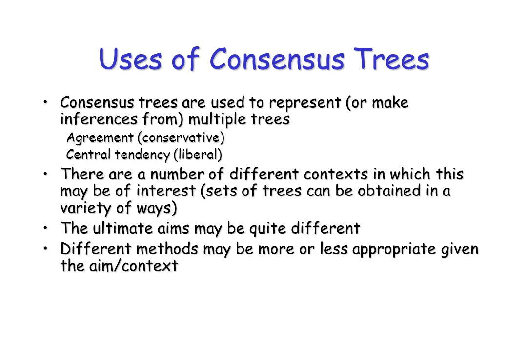Uses of Consensus Trees