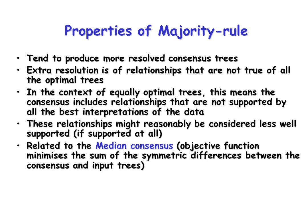 Properties of Majority-rule