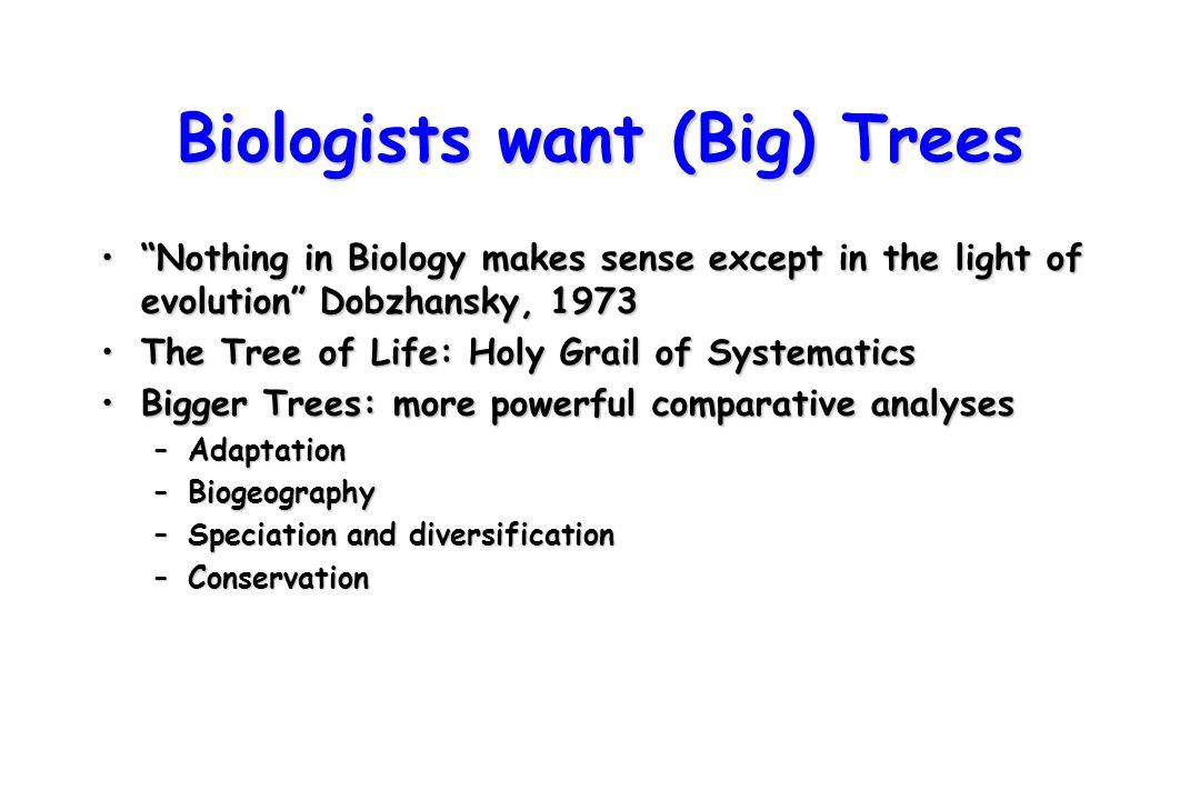 Biologists want (Big) Trees