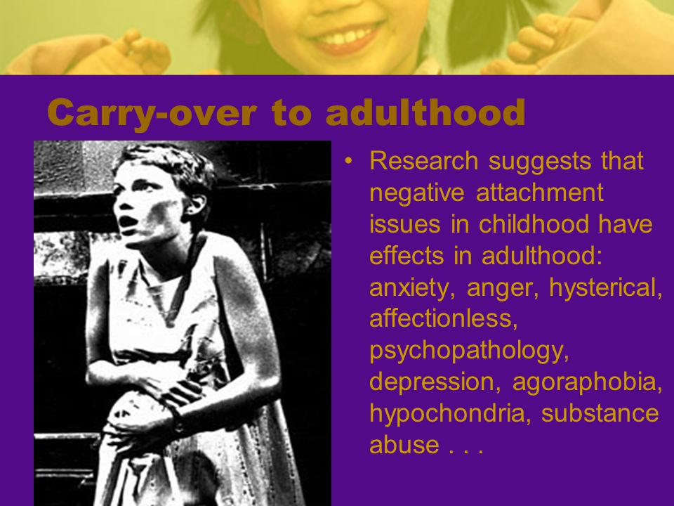 Carry-over to adulthood