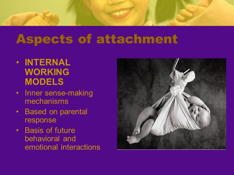 Aspects of attachment INTERNAL WORKING MODELS