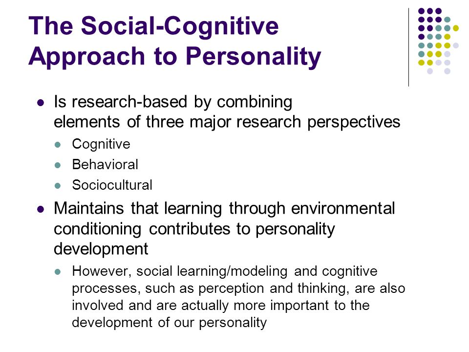 The Social-Cognitive Approach to Personality