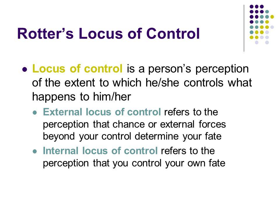 Rotter's Locus of Control
