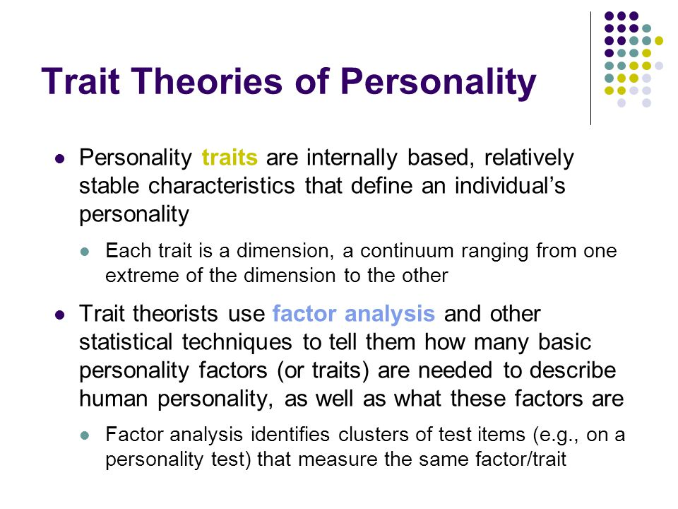 ch 2 personality theory